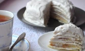 Млинцевий торт з заварним кремом: за мотивами французької кухні