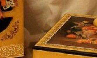 Декупаж шкатулки з роздруківкою малюнка (покроково)