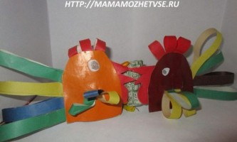 Дитяча саморобка півник з паперу до нового року