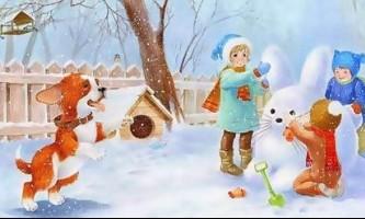 Дитячі вірші на англійській мові про зиму