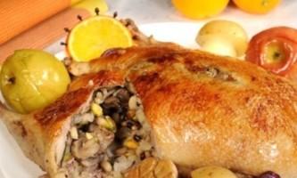Фарширована качка - рецепт для початківців кулінарів