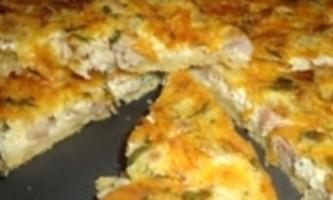 Кіш, рецепт пирога з куркою, пиріг з сиром, пісочне тісто