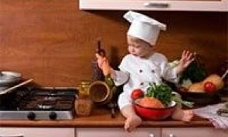 Кухня - місце для розвиваючих ігор