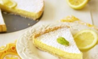 Пісочний торт з сиром, сирним кремом і сирним суфле