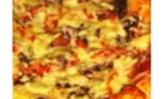 Піца з сушеними грибами