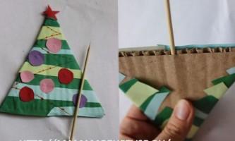 Виріб до нового року: ялинка з паперу