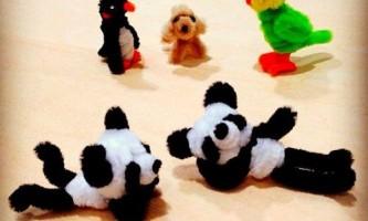 Вироби з пухнастою дроту для дітей: 64 супер ідеї