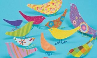 Падалка весняні: як зробити птицю з паперу або з тканини