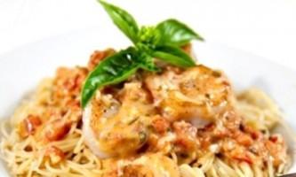 Соус з креветками для спагетті, пасти, макаронів