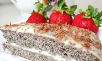 Торт з маком на будь-який смак