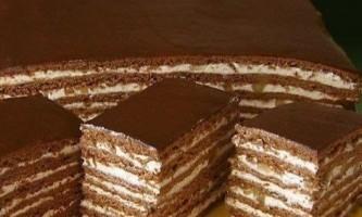 Торт «спартак» - рецепт приготування