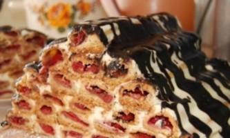 Торт вишнева гірка - рецепт популярного десерту