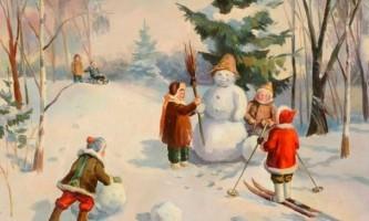 Загадки про зиму для дітей 4-5 років