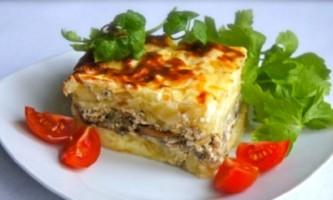 Запіканка картопляна з фаршем і грибами: готуємо просто