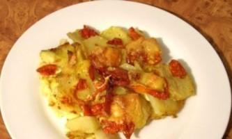 Запіканка картопляна з ковбасою - улюблені продукти в одній страві