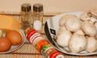 Запіканка з грибами і сиром